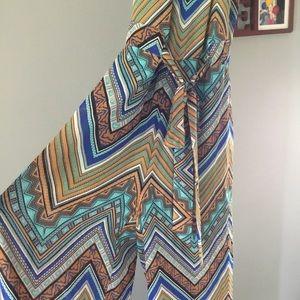 Aztec style jumpsuit size medium